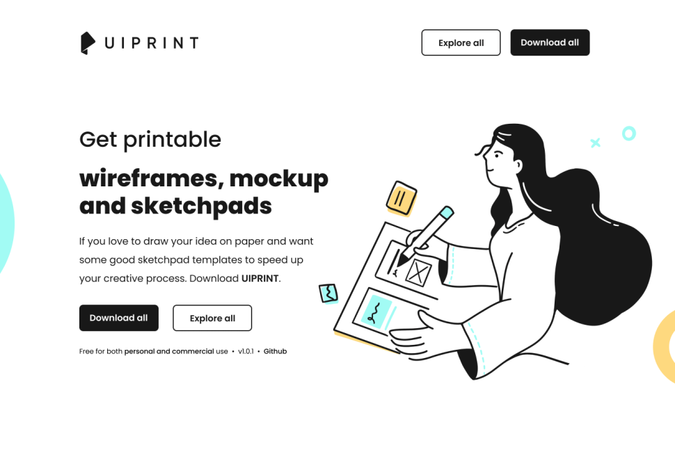 uipint - paper prototyping with printable mockups and wireframe